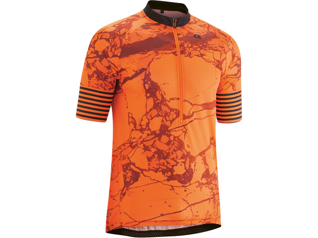 Gonso Almandin 3/4 Zip SS Bike Jersey Men mandarin red